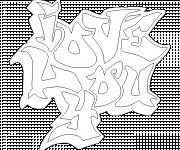 Coloriage dessin  I Love You 24