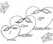 Coloriage I Love You en Coeur
