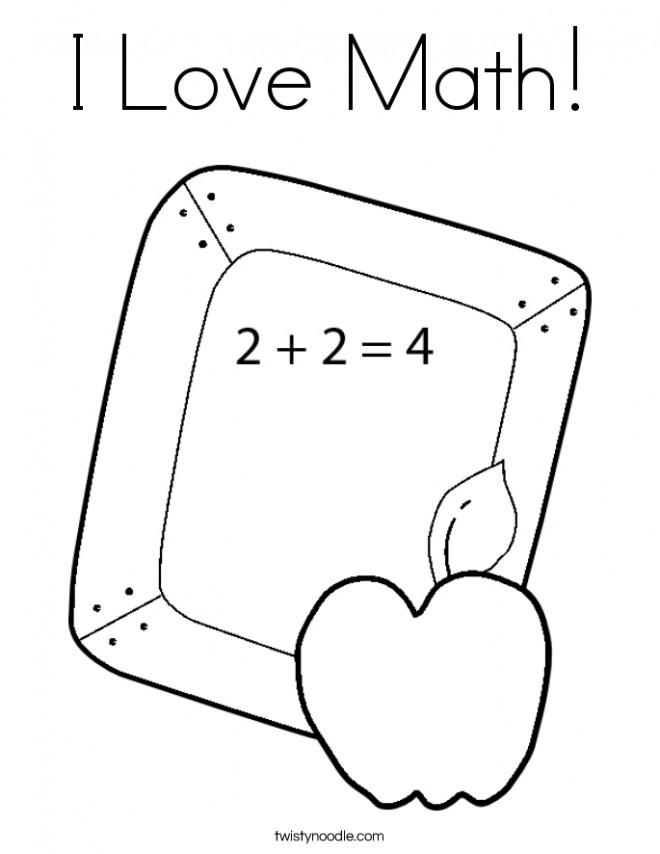 Coloriage et dessins gratuits J'aime La mathématique à imprimer