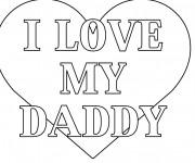Coloriage J'aime mon Papa