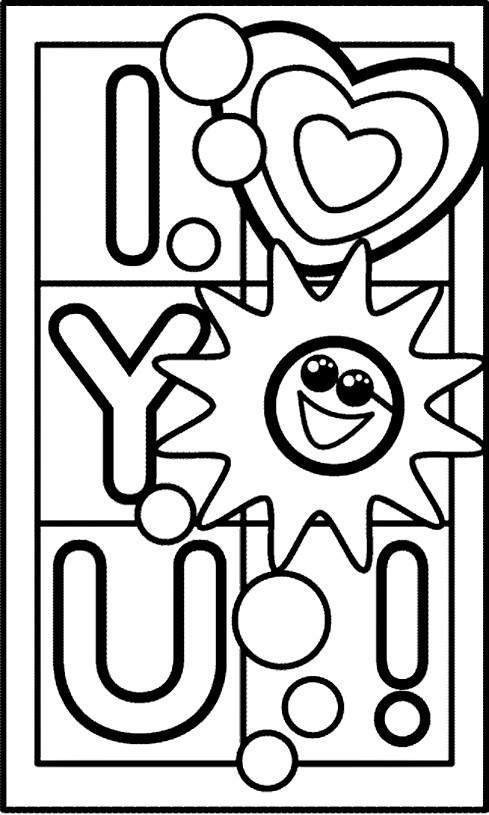 Coloriage et dessins gratuits Je T'aime magique à imprimer