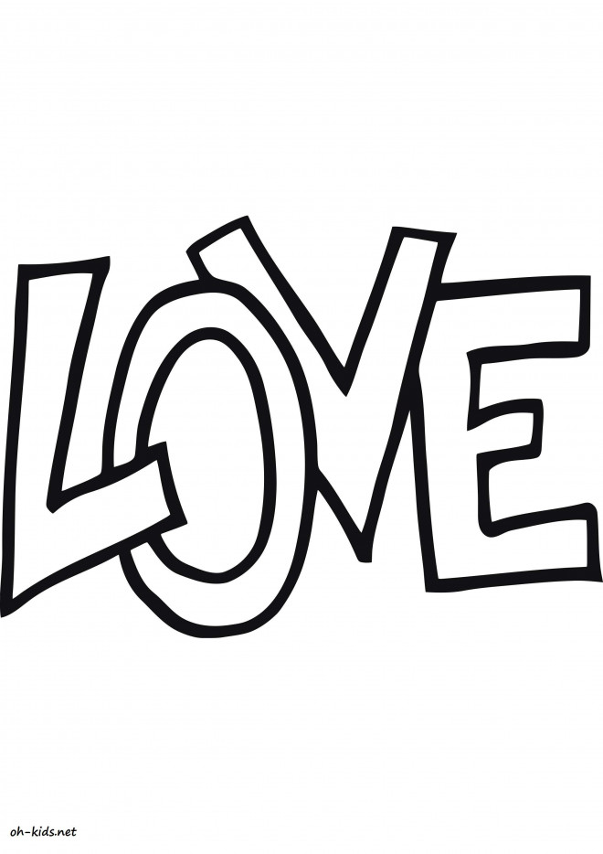 Coloriage et dessins gratuits Love vecteur à imprimer