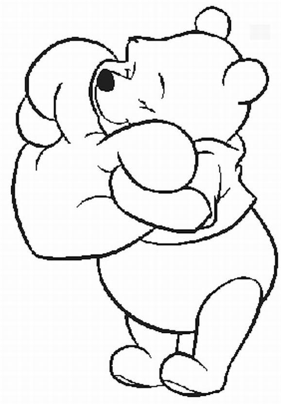 Coloriage et dessins gratuits Ours amoureux à imprimer