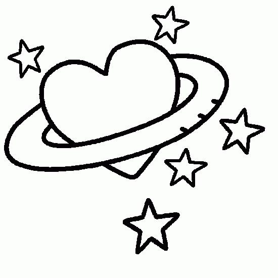 Coloriage et dessins gratuits Planète d'amour à imprimer