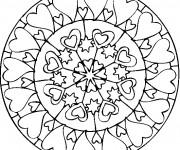 Coloriage dessin  Rose et Coeur 61