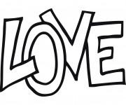 Coloriage dessin  Tag Love 9