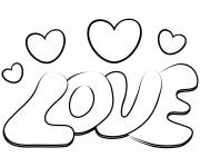 Coloriage et dessins gratuit Tag Love à colorier à imprimer