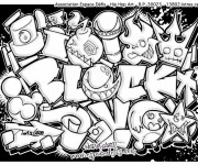 Coloriage Tag Love Graffiti