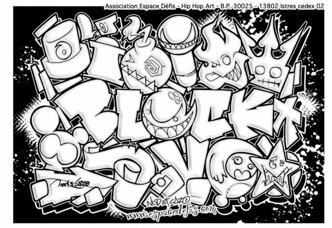 Coloriage et dessins gratuits Tag Love Graffiti à imprimer