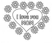 Coloriage Tag Love pour nos Mères