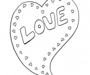 Coloriage Tag Love simple