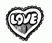 Coloriage Tag Love stylisé
