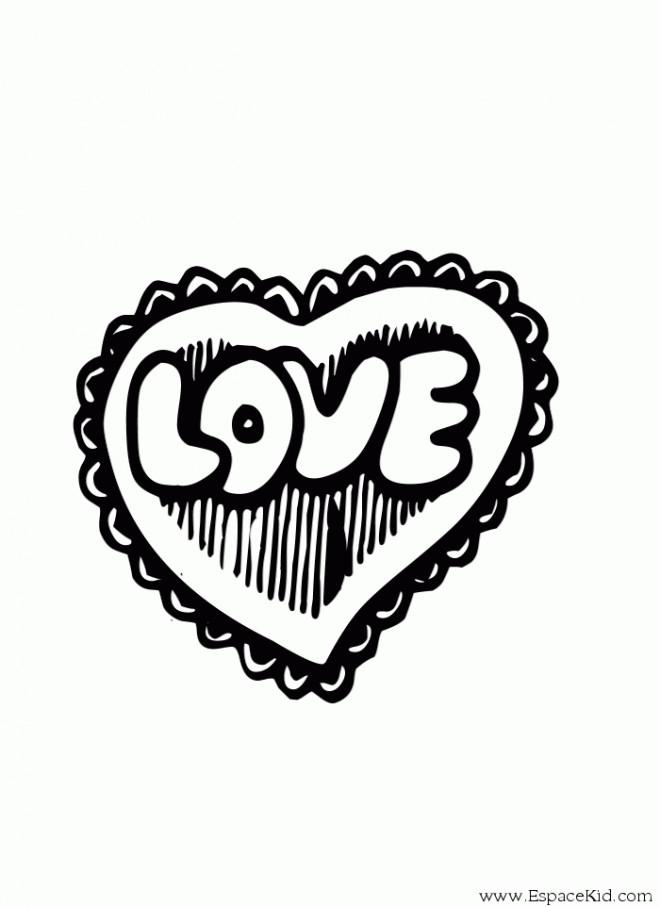 Coloriage Tag Love Stylisé Dessin Gratuit à Imprimer