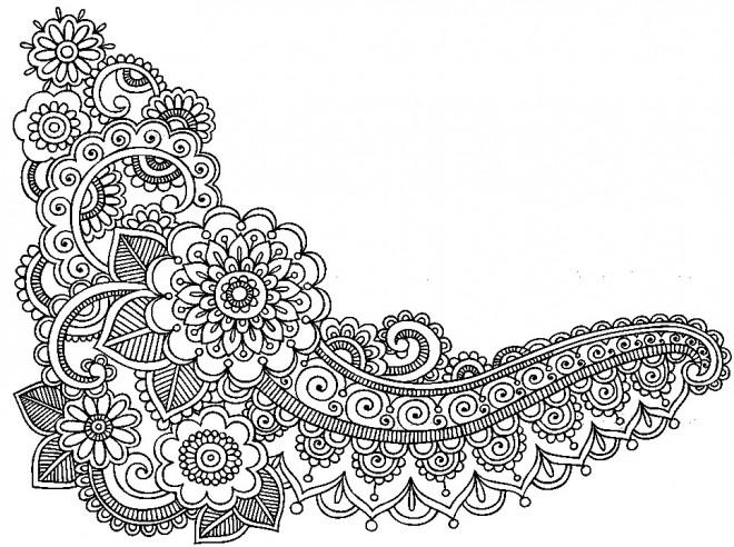 Coloriage et dessins gratuits Adulte Feuilles et Fleurs à imprimer