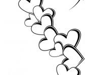 Coloriage Des Coeurs en Tatouage