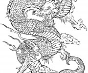 Coloriage Dragon Difficile pour Adulte
