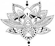 Coloriage et dessins gratuit Inspiration Zen 20 à imprimer