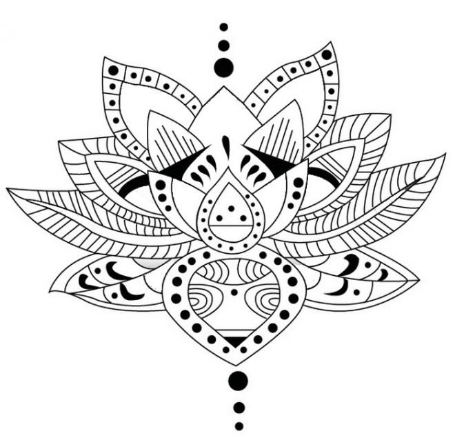 Coloriage et dessins gratuits Inspiration Zen vecteur à imprimer