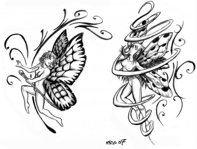 Coloriage et dessins gratuits Papillon en Tatouage adulte à imprimer