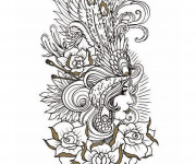 Coloriage et dessins gratuit Tatouage 5 à imprimer