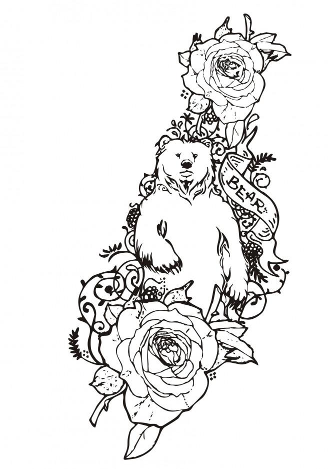 Coloriage et dessins gratuits Tatouage à découper à imprimer