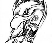 Coloriage Tatouage Aigle