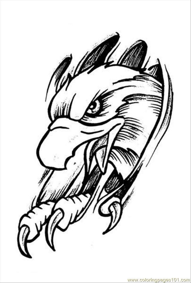 Coloriage Tatouage Aigle Dessin Gratuit 224 Imprimer