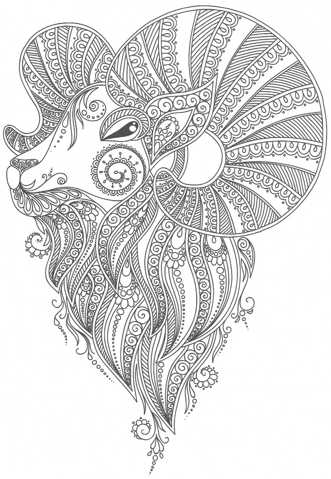 Coloriage et dessins gratuits Tatouage Animaux à imprimer