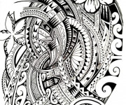 Coloriage et dessins gratuit Tatouage artistique à imprimer