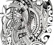 Coloriage Tatouage artistique