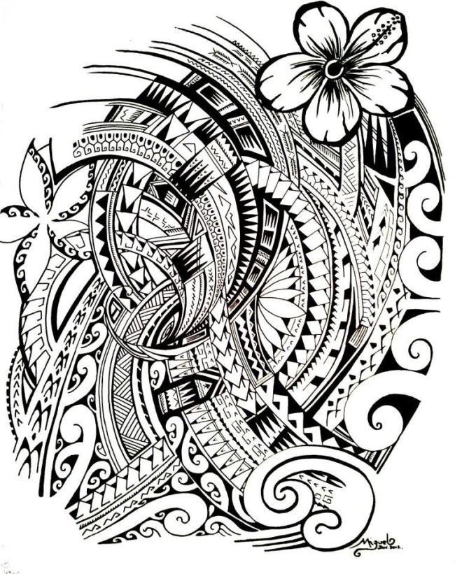 Coloriage et dessins gratuits Tatouage artistique à imprimer