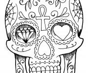 Coloriage et dessins gratuit Tatouage Crane à imprimer
