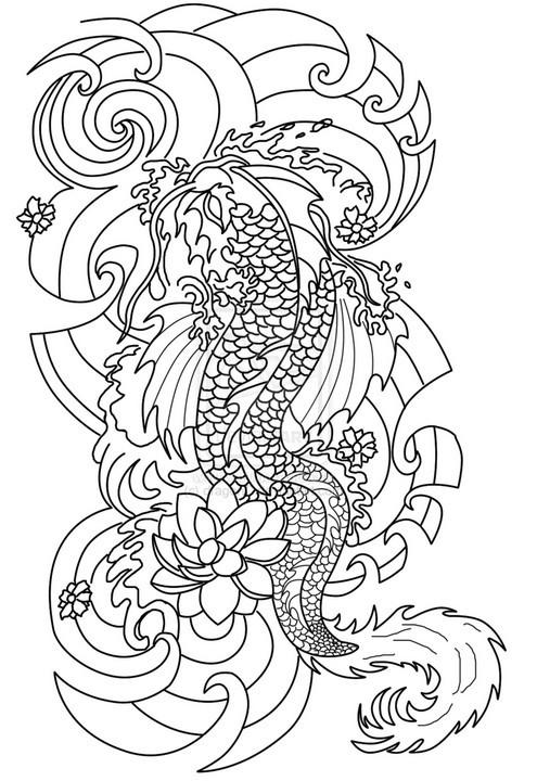 Coloriage Tatouage Dragon Chinois Dessin Gratuit A Imprimer