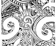 Coloriage et dessins gratuit Tatouage en ligne à imprimer