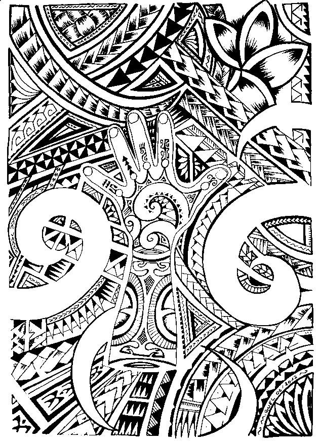 Coloriage et dessins gratuits Tatouage en ligne à imprimer