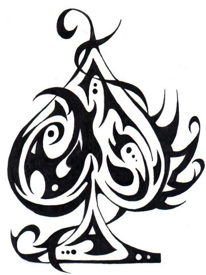 Coloriage Tatouage En Noir Dessin Gratuit A Imprimer