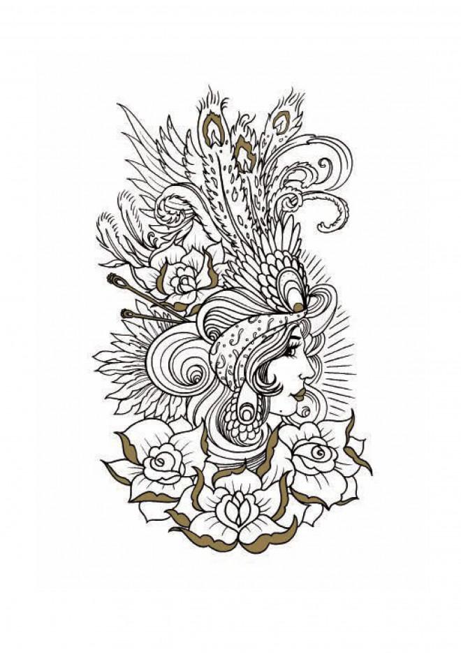 Coloriage et dessins gratuits Tatouage Image à imprimer