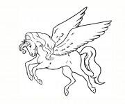 Coloriage et dessins gratuit Tatouage Licorne à imprimer