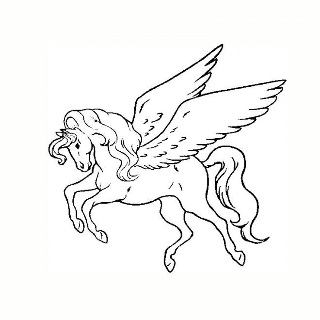 Coloriage et dessins gratuits Tatouage Licorne à imprimer