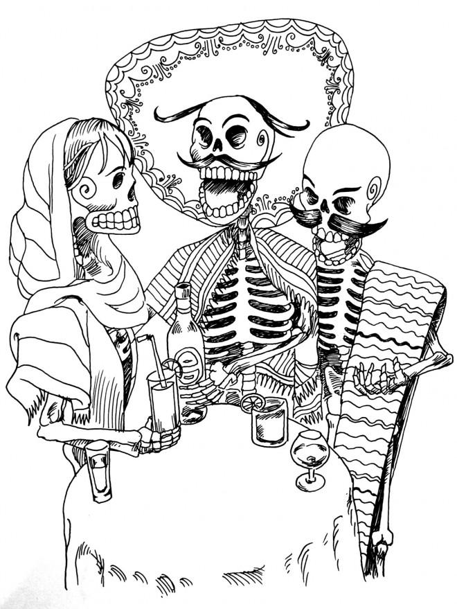 Coloriage et dessins gratuits Tatouage magique à imprimer