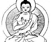 Coloriage Tatouage Méditation