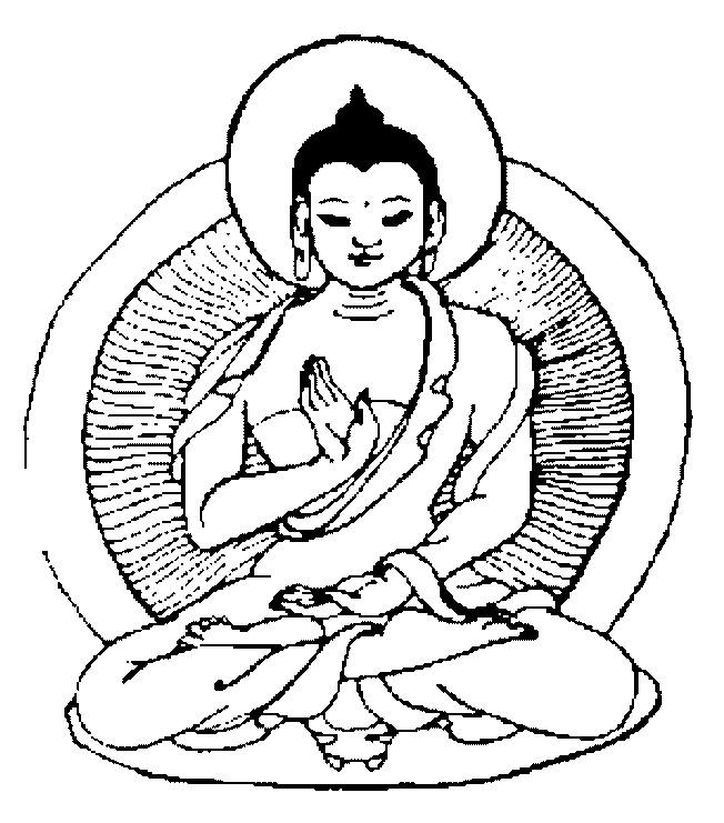 Coloriage et dessins gratuits Tatouage Méditation à imprimer