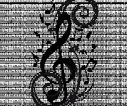 Coloriage Tatouage Musique