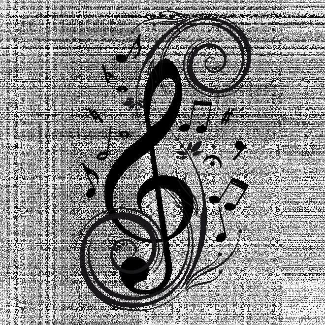 Coloriage et dessins gratuits Tatouage Musique à imprimer
