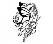 Coloriage Tatouage Papillon
