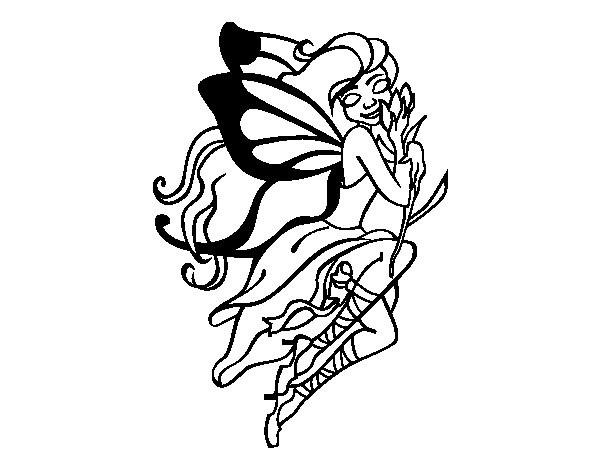 Coloriage et dessins gratuits Tatouage Papillon à imprimer