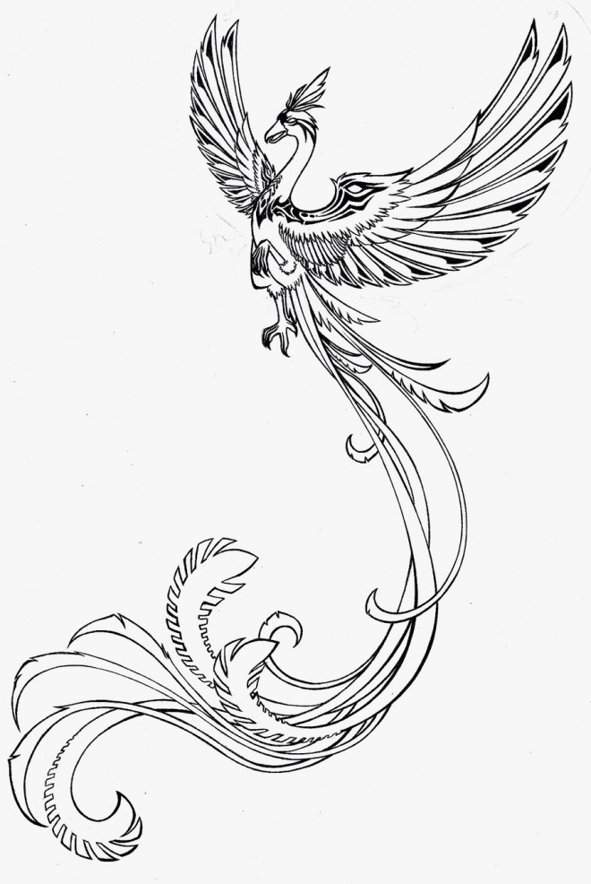 coloriage tatouage phoenix dessin gratuit imprimer. Black Bedroom Furniture Sets. Home Design Ideas
