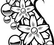 Coloriage Tatouage pour découpage