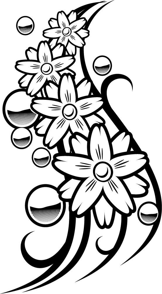 Coloriage et dessins gratuits Tatouage pour découpage à imprimer