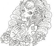 Coloriage et dessins gratuit Tatouage pour les grands à imprimer